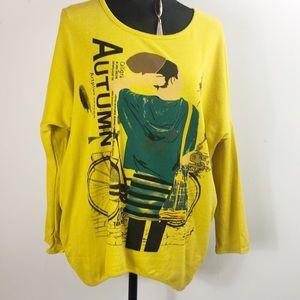 Tee shirt women's xl autumn artplus season
